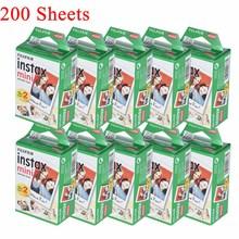 10 200 แผ่นFujifilm Instax Miniสีขาวฟิล์มกระดาษภาพนิ่งอัลบั้มพิมพ์ทันทีสำหรับFujifilm Instax Mini 7S/8/25/90/9