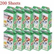 10 200 גיליונות Fujifilm Instax מיני לבן סרט נייר צילום תמונת מצב אלבום מיידי הדפסת עבור Fujifilm Instax מיני 7s/8/25/90/9