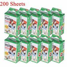 10-200 folhas fujifilm instax mini filme branco foto álbum instantâneo impressão instantânea para fujifilm instax mini 7s/8/25/90/9