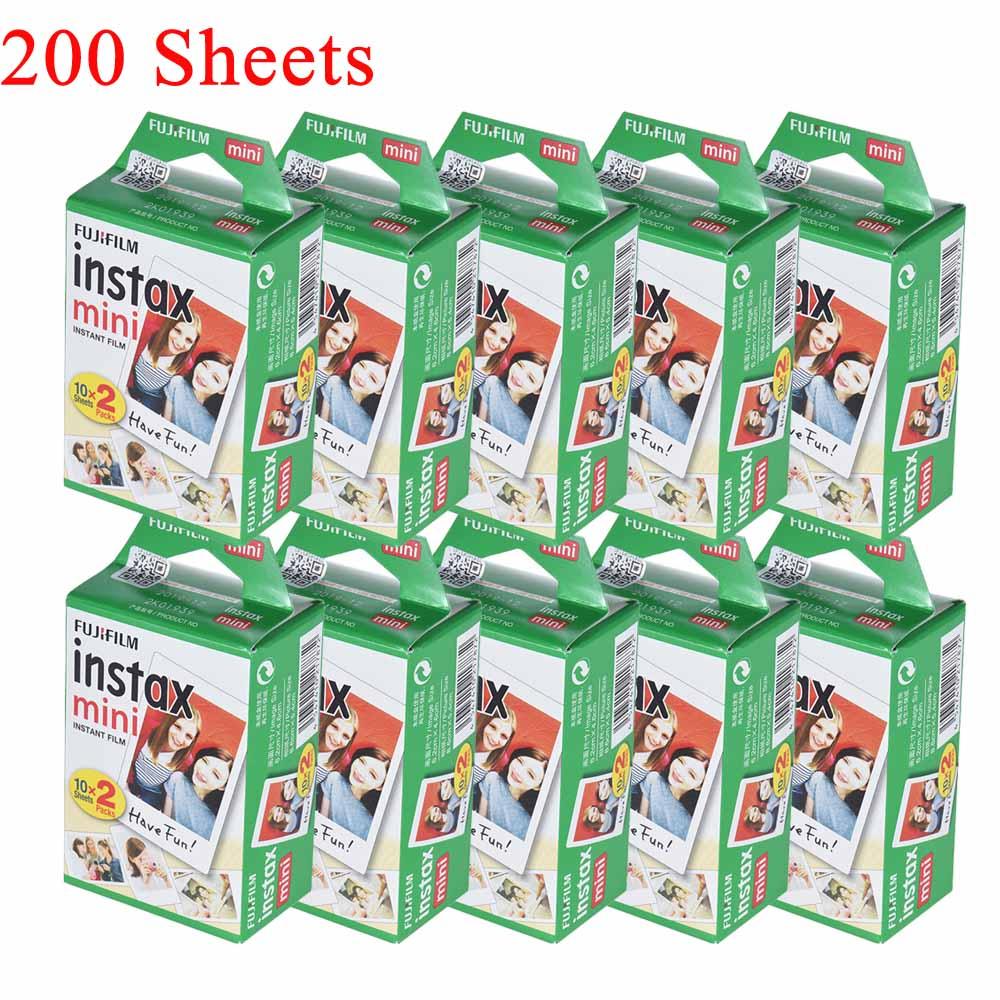 10-200 folhas fujifilm instax mini filme branco foto álbum instantâneo impressão instantânea para fujifilm instax mini 7 s/8/25/90/9