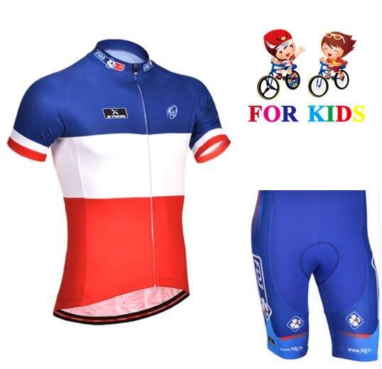 curta verão ciclismo jérsei terno crianças roupas