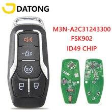 Datong – clé télécommande universelle pour voiture, compatible avec Ford Fusion Explorer edge Mustang 2013 – 2017 FSK902 ID49Hitag