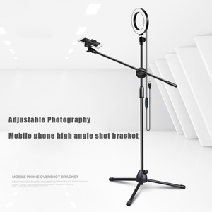 Image 4 - Adjustable Photography Mobile phone high angle shot bracket With Boom Arm Bluetooth Ring Light Tripod For Photo/Video Shooting