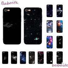 Babaite sky Space planet Astronaut star moon Cover Black Soft Shell Phone Case For iPhone 8 7 6 6S Plus X XS MAX 5 5S SE XR(China)