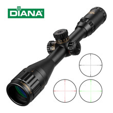4-16x44 Taktis Optik Cross Pandangan Hijau Merah Illuminated Riflescope Senapan Berburu Lingkup Sniper Airsoft Senjata Udara(China)