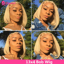 13x4 Short Bob Wigs 613 Blonde Lace Front Human Hair Wigs Pre Plucked Brazilian Straight Bob Wigs For Black Women AliPearl Hair(China)