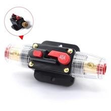 цена на 12V 24V DC Circuit Breaker 20A 30A 40A 50A 60A 80A 100A Home Solar System Waterproof Mini Circuit Breaker Reset Fuse Inverter