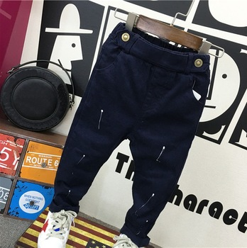 fashion baby clothing 2-7years baby boys soft jeans trousers Kids jeans blue casual pants spring autumn trousers denim 2