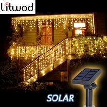 Litwod z30 лампы на солнечных батареях, уличный светильник ing 50 бусин, 7 метров, светодиодный светильник на веревочке, декор для патио, сказочный светильник-сосулька, ing String