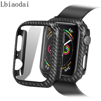 Para el caso de Apple watch 44mm 40mm iWatch 42mm 38mm Protector de fibra de carbono de parachoques Apple watch Serie 3 4 5 6 SE Accesorios
