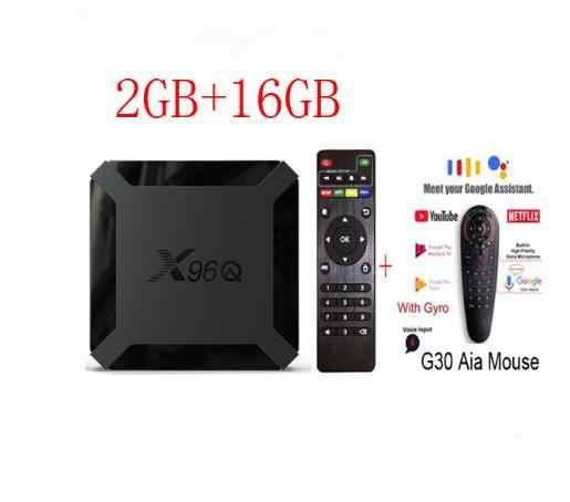 X96Q TV Box Android 10,0 Allwinner H313 Quad Core 2GB 16GB/1GB 8GB optional g30 voice-air maus i8 keyboad spanien lager