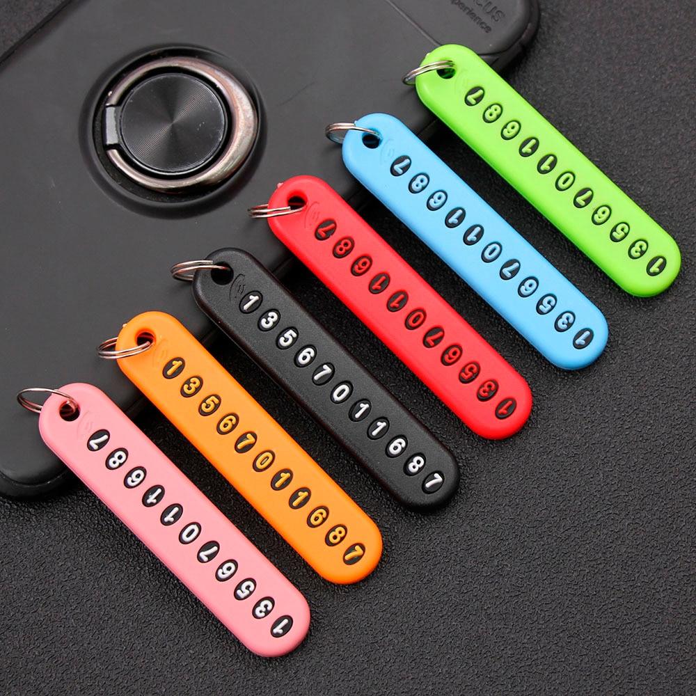 5 шт. брелок с наборным номером телефона, брелок для ключей с номером телефона, брелок от потери вещей