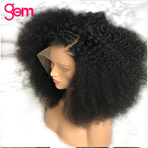 Image 4 - Afro Kinky Curly Wig Lace Front Human Hair Wig For Women Mongolian Remy Hair 30 Inch 13x 1 x6 T Transparent HD Lace Frontal Wig