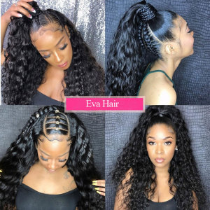 Image 3 - Eva Hair 360 Lace Frontal Wig Pre Plucked With Baby Hair Glueless Curly Lace Front Human Hair Wigs For Women Brazilian Remy Hair