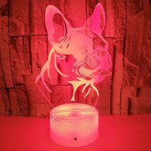 French Bulldog 3D LED Night Light Dog Decoration Lighting Child's birthday gift Kids Sleep Lamp 7 colors