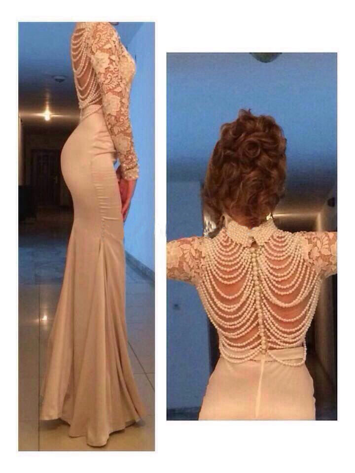 2018 Court Train High Neck Elegant Champagne Lace Long Sleeves 2018 Evening Gown Vestido De Renda Mother Of The Bride Dresses
