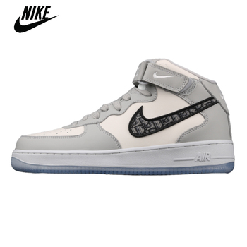 Original Nike Air Force 1 MID Mid White Men's Womens Sneaker Shoes Low Top Sport Sneakers Air Force One Outdoor Shoes CT1266-700