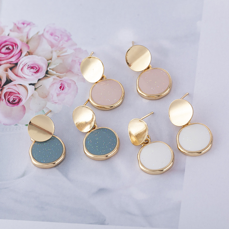 Fashion Round earrings Creative joker metal earrings simple geometric shape aesthetic small stud earrings for women jewelry