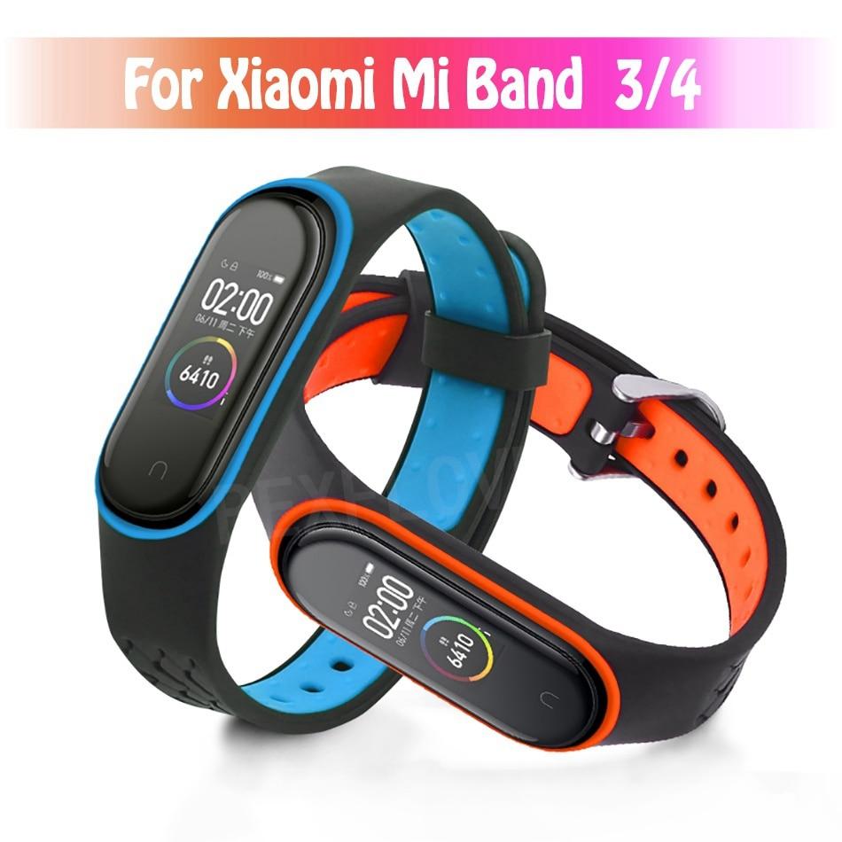 For Xiaomi Mi Band 4 Strap Sport Watch Silicone Wrist Strap For Mi Band 3/4 Bracelet Smart Miband 4 NFC Strap Correa Accessories(China)