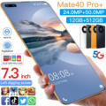 HUAWE Mate40 Pro + 5G глобальная версия смартфон 7,3 дюймов HD Экран 50 МП Камера MTK6889 + Deca Core, размер экрана 6000 мА/ч, 16G 512G мобильного телефона