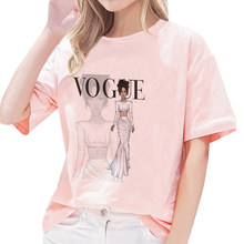 2020 Summer Vogue Friends Women T Shirt Vintage Casual Harajuku T-shirt Grunge Aesthetic Clothes Kawaii Clothes T Shirt Women(China)