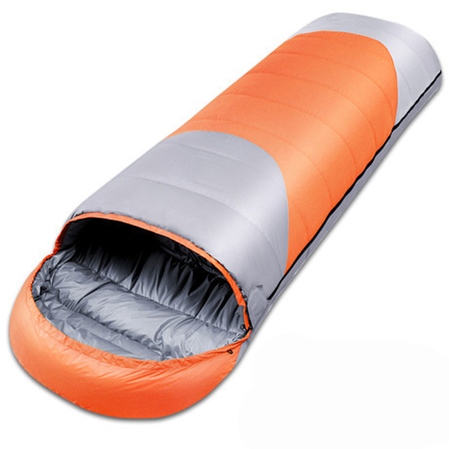 Duck down envelope outdoor camping travel adult sleeping bag filling 1800g use in autumn and winter have 3colors for choose 3