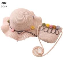 Hat Handbags Straw-Hats Panama-Cap Outdoor Summer Girls Fashion Sun-Protection New Holiday