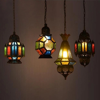 Mediterranean industrial retro Morocco Iron Pendant Lights Creative cafe bar restaurant hanging light Vintage loft Pendant Lamps