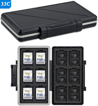 JJC 36 Slots Waterproof Memory Card Case Holder Storage Box Organizer Wallet for 24 Micro SD SDXC SDHC TF 12 SD SDXC SDHC Cards 1