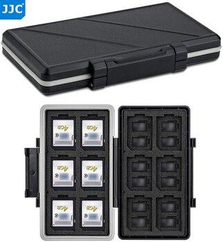 JJC 36 Slots Waterproof Memory Card Case Holder Storage Box Organizer Wallet for 24 Micro SD SDXC SDHC TF 12 SD SDXC SDHC Cards