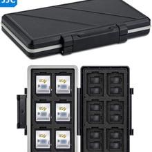 JJC 36 Slots Waterproof Memory Card Case Wallet Holder Organizer for 24 Micro SD MSD TF 12 SD SDXC SDHC Card Storage Box Keeper