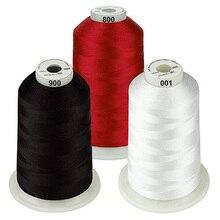 Цветные пакеты из полиэстера для вышивальной машины, нить, огромная катушка 5000 м для всех вышивальных машин