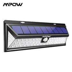 Mpow CD020 54 LED luz de noche IP65 luces solares impermeables gran angular LED lámpara de energía Solar al aire libre para jardín Patio de pared