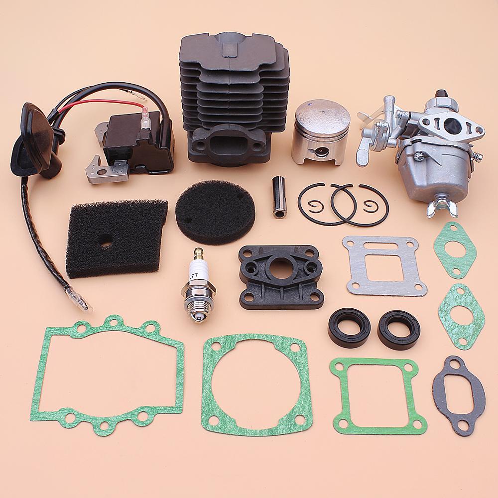 40mm Cylinder Piston Carburetor Ignition Coil Kit For Robin NB411 CG411 Air Filter Element Intake Manifold Gasket Oil Seal Set