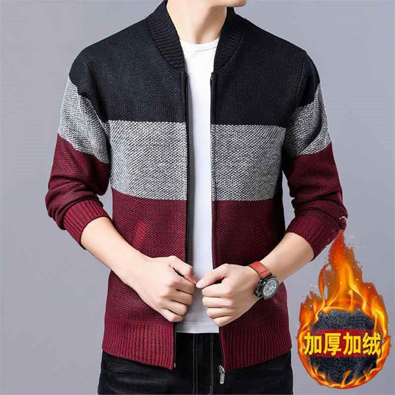 OLOEY Sweaters Men 2018 Autumn And Winter Cardigan Jacket Men's Large Size Velvet Men's Cotton Long-sleeved Trend Sweater