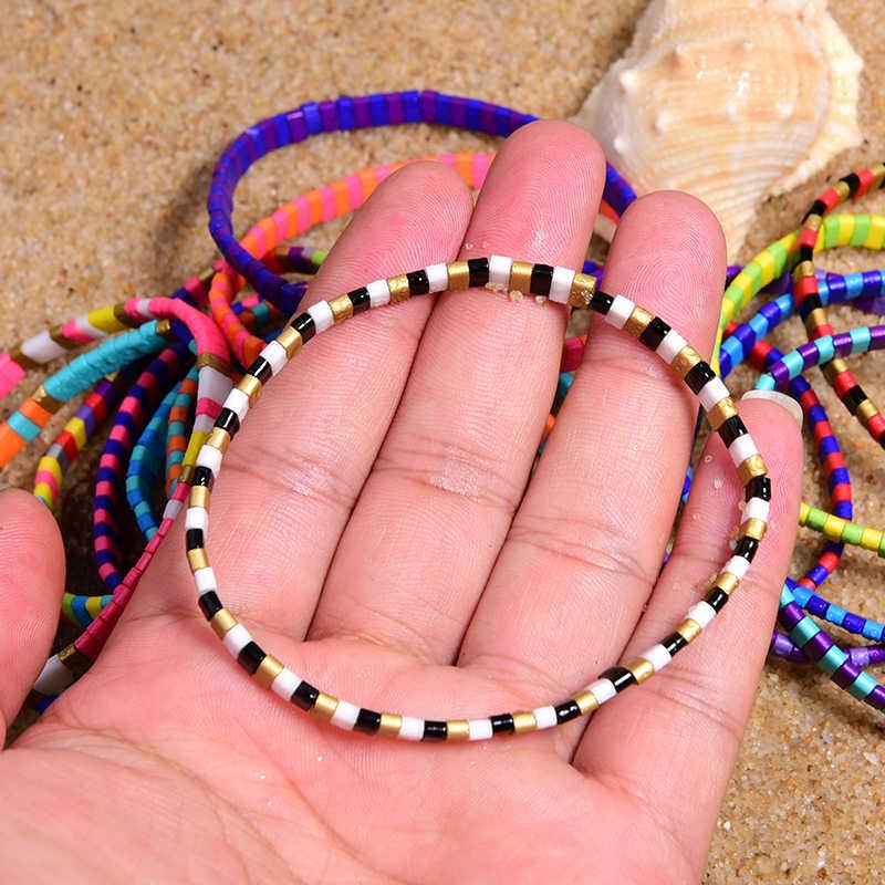 ירח ילדה צבעוני מיוקי צמידים לנשים טרנדי קסם לעטוף Tila Delica חרוזים Boho שיק לגלוש Pulseras Mujer תכשיטי Dropship