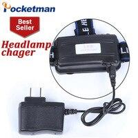 Farol carregador direto poderoso farol carregador dc carga 18650 bateria cabeça luz carregador Faróis Luzes e Iluminação -