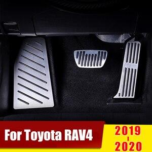 Image 1 - אלומיניום מאיץ גז דוושת בלם דוושות ללא קידוח כיסוי הדום רפידות עבור טויוטה RAV4 RAV 4 XA50 2019 2020 אבזרים