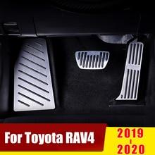 Aluminium akcelerator pedał gazu pedały hamulca non wiercenia pokrywa podnóżek klocki dla Toyota RAV4 RAV 4 XA50 2019 2020 akcesoria