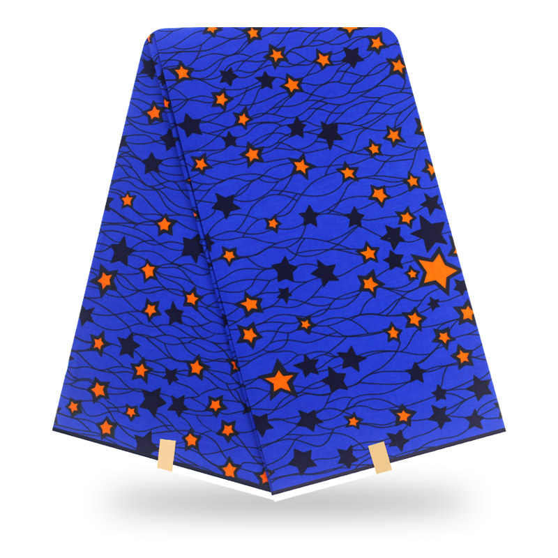 2020 Beautiful Blue Cotton Material African Print High Quality Real Dutch Wax Fabric African Nigeria Pagne Nederlands Wax Fabric