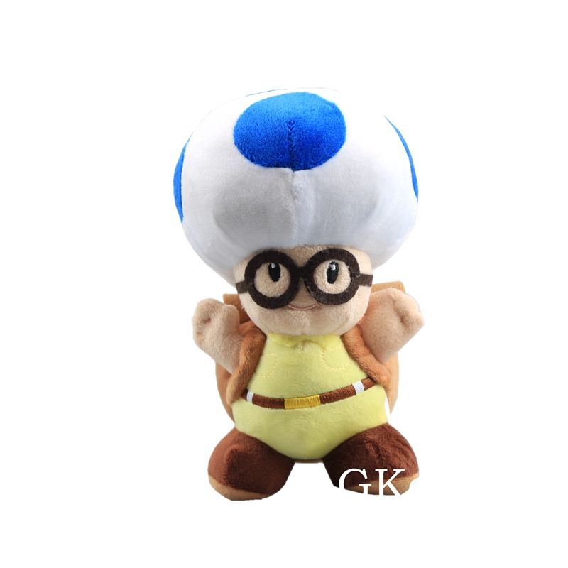 <font><b>20</b></font> <font><b>cm</b></font> Mario Captain Toad Blue Plush Toys Doll <font><b>Peluche</b></font> Mario Mushroom Stuffed Animals Toys baby kids Christmas Birthday Gift image