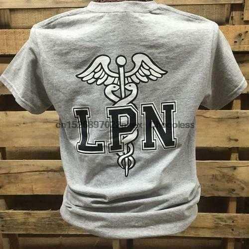 Южный шик медсестра LPN Лицензированная практичная медсестра девочка Яркая футболка (1)