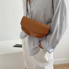 PUOU 2020 Color PU Leather Belt Bag Women Waist Bags Girl Fashion Bum Pouch Phone Chest Packs