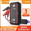 UTRAI Starthilfe 2000A/1600A Auto Booster Power Bank Batterie 12V Auto Start Gerät Ladegerät Notfall Batterie Auto starter