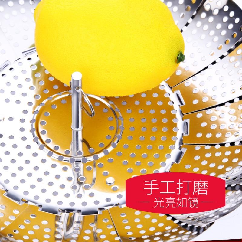Новая Бамбуковая Пароварка из нержавеющей стали, складная Пароварка, кастрюля для приготовления Пароварка для китайских булочек на пару, а...
