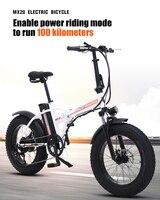 Electric bike 20 inch Folding electric Bicycle 500W 48V Battery Mountain e bike Cycling Electric Snow Bike E Bike