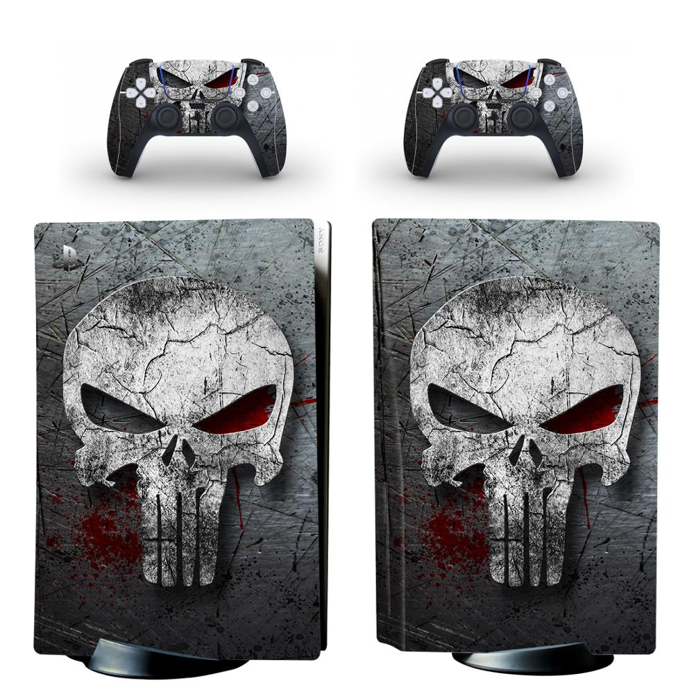 The Skull PS5 Standard Disc Edition Skin Sticker Decal Cover for PlayStation 5 Console & Controller PS5 Skin Sticker Vinyl 1