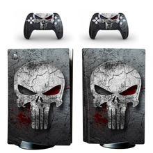 Autocollant tête de mort PS5 en vinyle, édition disque Standard, pour Console et contrôleur PlayStation 5