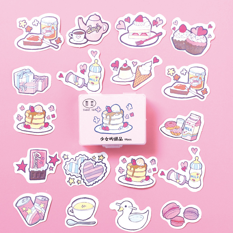 44 Pcs/Box Sweet Little Things Cakes Paper Decorative Stickers Phone Dairy Adhesive Stickers