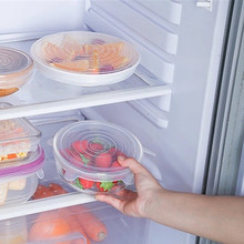 Cookware Wrap-Cover Seal-Bowl Fresh Stretch Kitchen Silicone Reusable Airtight 6pcs Lids